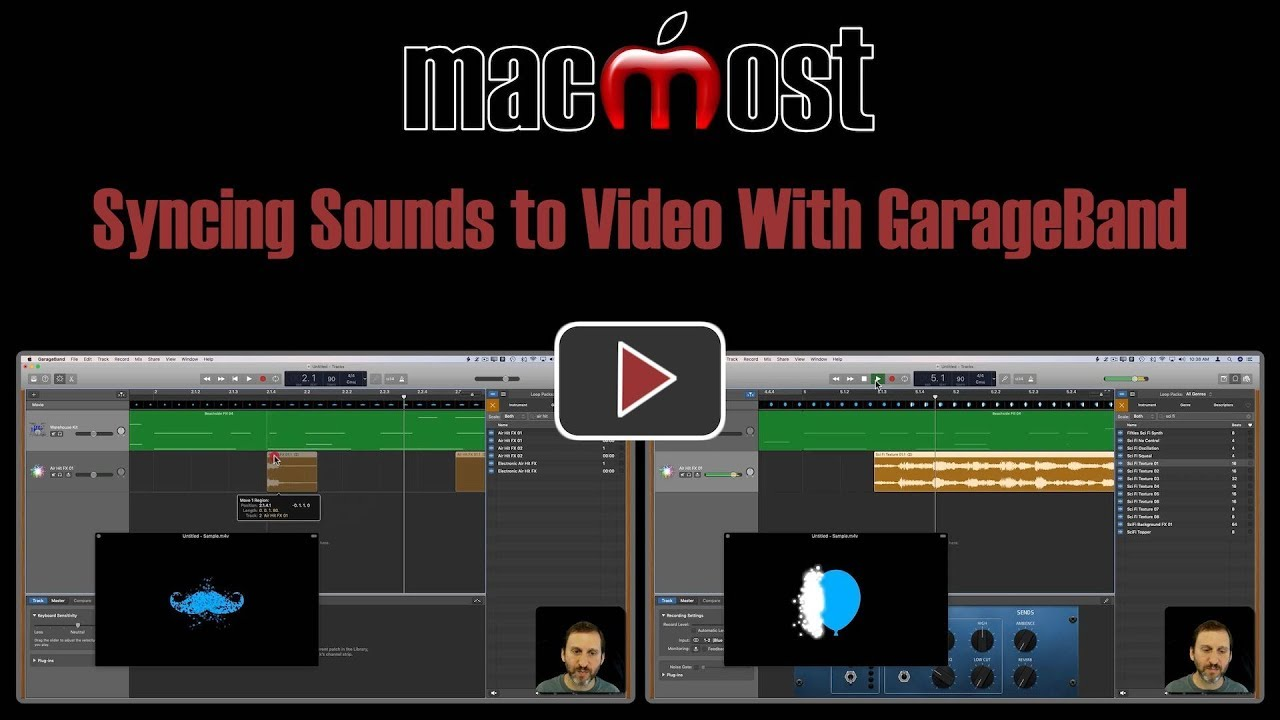 Garageband Fade In Syncing Sounds To Video With Garageband