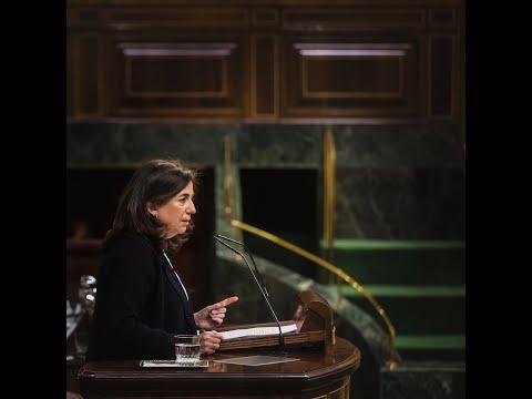 Sandra Moneo defiende la oposición del GPP a la reforma de la Ley de Educación.