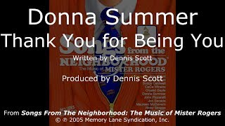 Donna Summer - Thank You for Being You LYRICS - HQ 2005