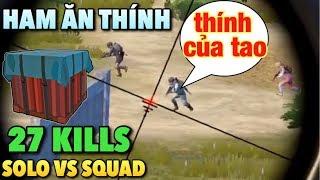 Vẩy AWM clear team bạn khi cắm đầu vào ăn THÍNH | Solo vs Squad PUBG Mobile