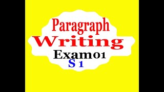 Semester 1 Paragraph Writing Exam (1) امتحان مع التصحيح
