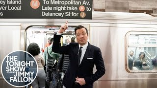 Jimmy Gives His Monologue from the New York City Subway