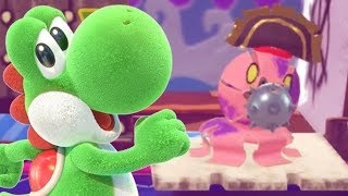 Yoshi's Crafted World - FIRST BOSS BATTLE!