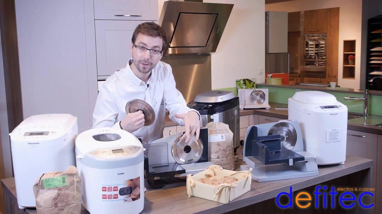 Electros et Cuisines DEFITEC, Thomas vous présente les machines à pain