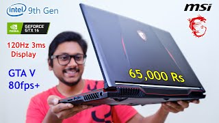 Beast Gaming Laptop on Budget... MSI GL63 9th Gen Review with GTA V Gameplay!
