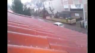 preview picture of video 'Hail Poland - Grad Polska (Ostrów Wielkopolski) 09.04.2014'