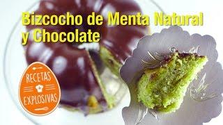 Bizcocho de Menta Natural y Chocolate- Muy fácil - Recetas Explosivas