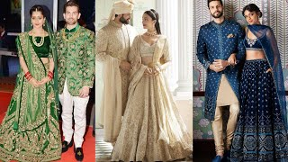 Matching Couple Outfit Ideas For Wedding Reception || Reception Matching Bride Groom Dress Designs