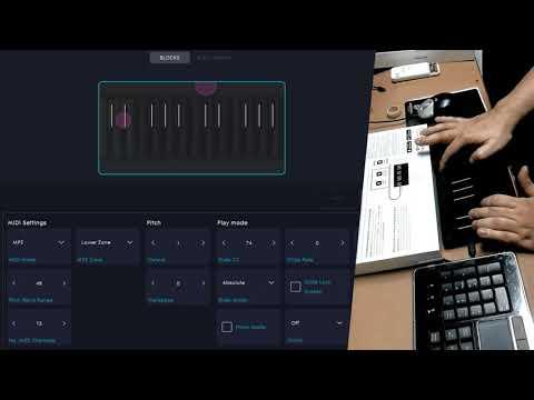 Aviram Dayan DreaMelodiC - Roli Seaboard Block - Test