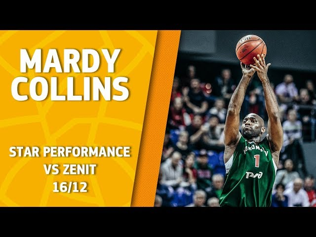 Star Perfomance. Mardy Collins vs Zenit - 26 pts & 3 ast