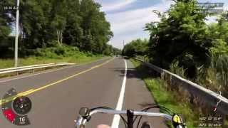 preview picture of video 'Red Hook to Hudson, NY on Bacchetta Giro 20 recumbent bicycle ride (Garmin Virb Elite)'