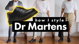 How I Style Dr Martens Shoes! - (1461/3989 Brogues/Adrian Loafers)