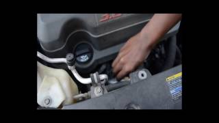Recap of Saturn Outlook oil change, Power steering location & oil plug Location