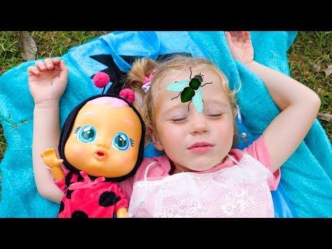 Настя и Кукла Пупсик хотят спать! Видео для детей Nastya and baby doll want to sleep Video for kids видео
