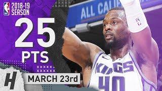 Harrison Barnes Full Highlights Kings Vs Suns 2019.03.23 - 25 Pts, 6 Reb, 2 Ast!