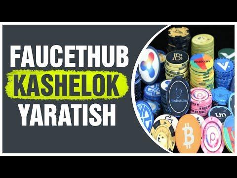 FAUCETHUB KASHELOGINI YARATISH/SAYT BILAN TANISHISH