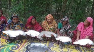 5 Big Spotted Knife Fish Scaling, Cutting & Curry Cooking By 15 Women To Feed Whole Village Peoples
