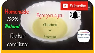 Homemade Hair Conditioner|Treat Dry Frizzy Damaged Hair|Get Silky Hair,Shiny Hair,Smooth Hair