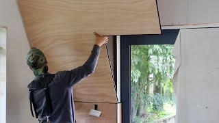Plywood Wall! - NO Nail Holes!
