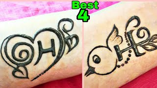 H Letter Tattoo Mehndi Design letter H Tattoo letter Mehndi Designs For Hands SS Unique Style