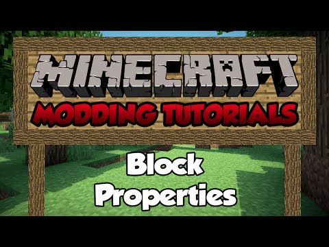 Minecraft 1.7: Modding Tutorial - Episode 10 - Block Properties