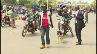 Raila car hit as Cord protests turn violent - VIDEO