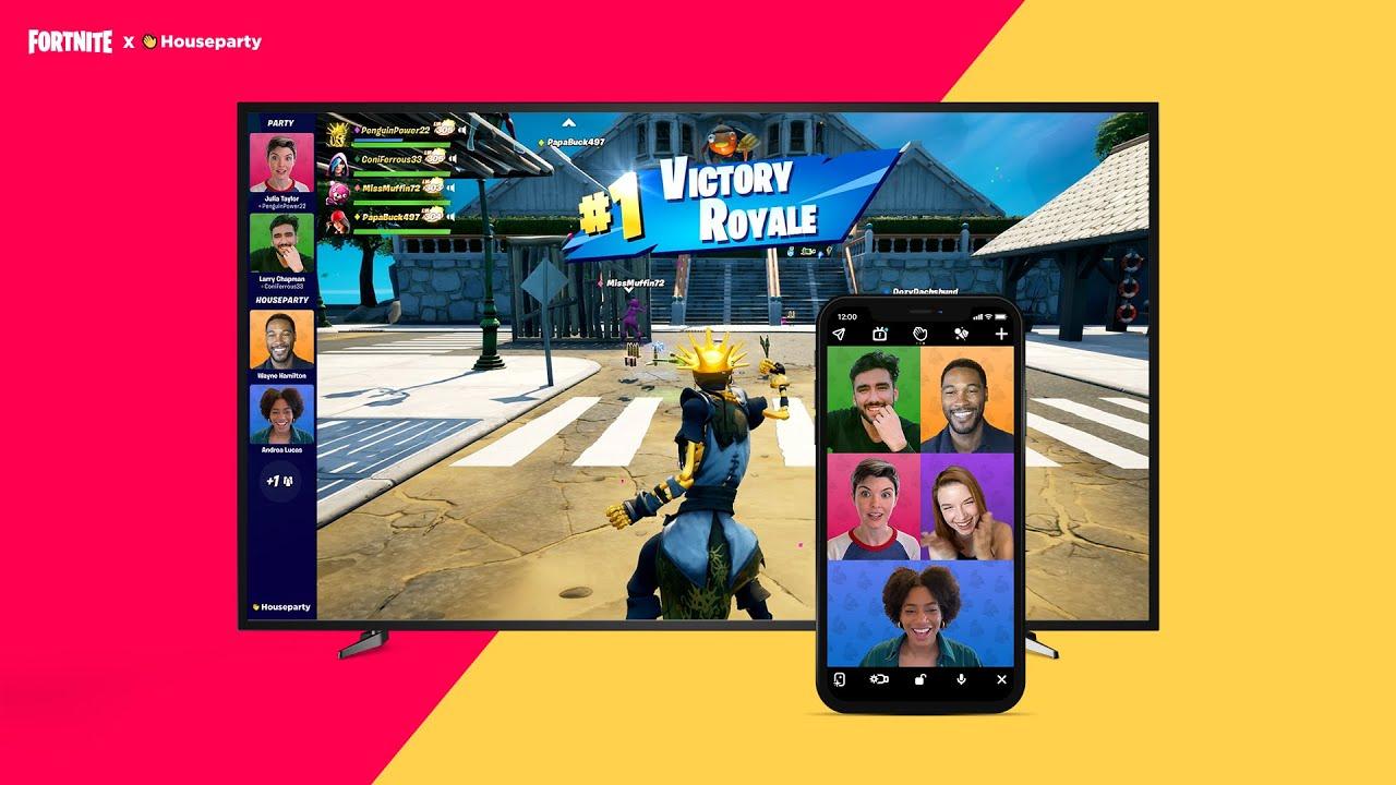 Fortnite si sta' unendo ad Houseparty per inserire una video chat nel gioco