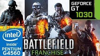 Battlefield Franchise - GT 1030 - G4560 - 1942 - 2 - 2142 - 3 - 4 - 1 - Hardline - series benchmark