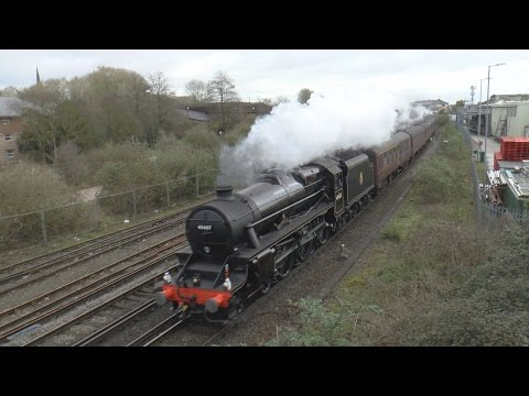 LMS 45407 'The Lancashire Fusilier' with 'The Bath & Bristol…