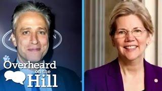 Elizabeth Warren & Jon Stewart Make Out? | Overheard On The Hill | msnbc thumbnail