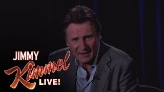 Liam Neeson Threatens a Fan on Jimmy Kimmel Live