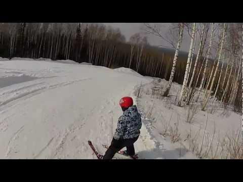 Видео: Видео горнолыжного курорта Пихтовый гребень в Новосибирская область