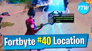 Fortnite Fortbyte #40 Location (Accessible with the Demi outfit on a sundial in the desert)