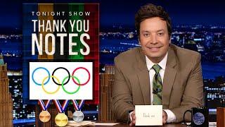 Tonight Show Fallon Five: Olympic Thank You Notes | The Tonight Show Starring Jimmy Fallon