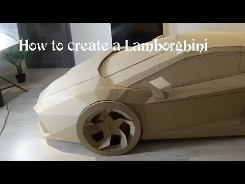 How to make a Lamborghini Aventador