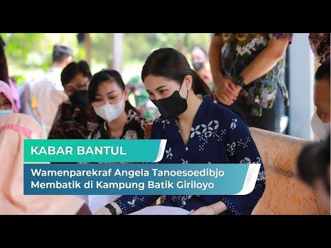 Wamenparekraf Angela Tanoesoedibjo Belajar Membatik di Kampung Batik Giriloyo Imogiri | Kabar Bantul