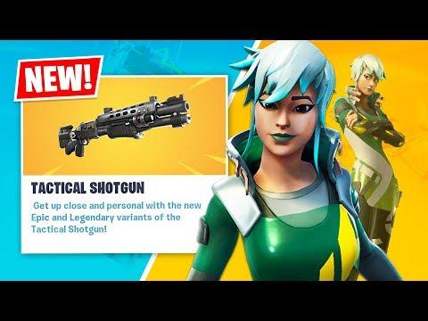 New LEGENDARY TACTICAL SHOTGUN and DARE Item Shop Skin! (Fortnite Battle Royale)