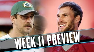NFL Week 11 preview: The Packers will struggle until Aaron Rodgers eats cheese again | Uffsides thumbnail