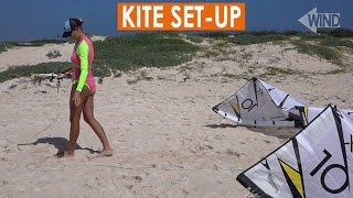 #7 Kiteboarding Beginner – Kite set-up