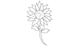 how to draw a sunflower easy step by step drawing lessons for kids
