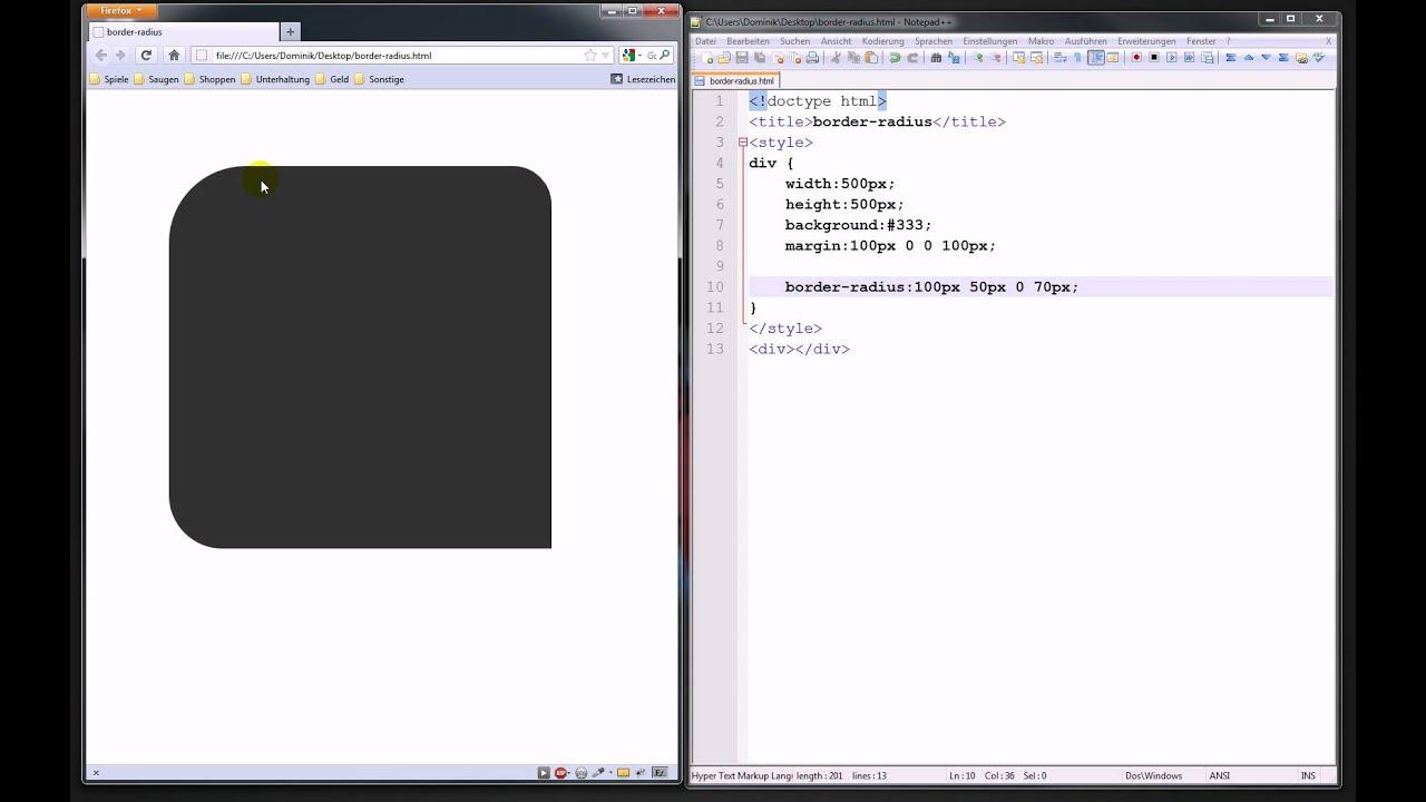 Border-Radius mit CSS3 – Webdesign-Tutorial