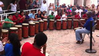 Highland Elementary's World Drumming Ensemble Perform During Lake Worth Street Painting Festival