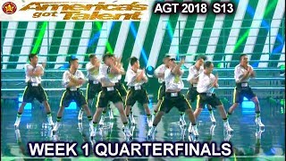 Junior New System Filipinos High Heels OMG PERFORMANCE Quarterfinals 1 America's Got Talent 2018 AGT