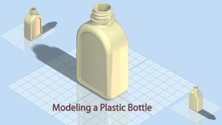 Modeling a Plastic Bottle (Autodesk Inventor 2012) HD