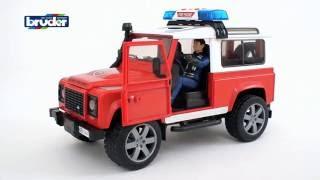 """Внедорожник Land Rover Defender Station Wagon Пожарная с фигуркой от компании Интернет-магазин """"Timatoma"""" - видео"""