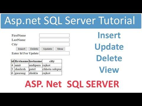 Asp.net SQL server Tutorial