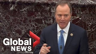 Adam Schiff delivers emotional closing argument on day 3 of Trump impeachment trial