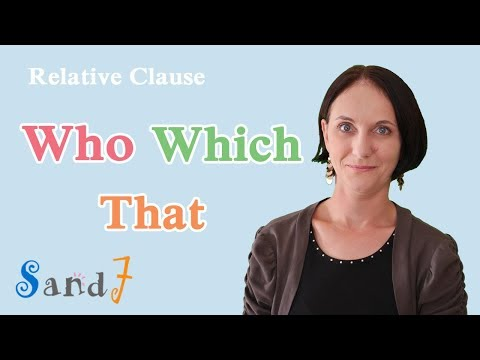 Download Who, Which, That - Relative Clause - Part 1 (English Grammar) Mp4 HD Video and MP3