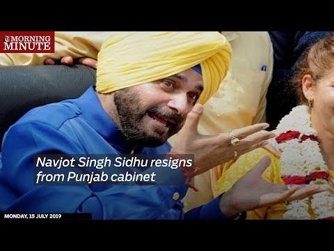 Navjot Singh Sidhu resigns from Punjab cabinet
