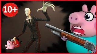 🔴Свинка Пеппа УЖАСТИКИ! СЛЕНДЕР В ОКНЕ все серии подряд Мультфильм на русском языке Peppa Pig страш
